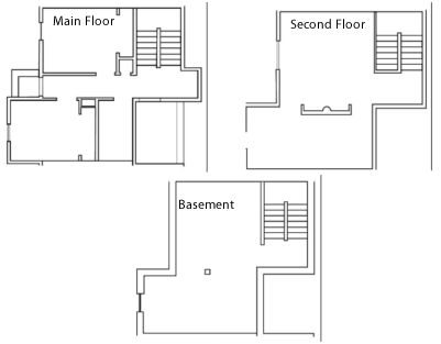 Floor plan of a townhouse at West Bank Townhouses