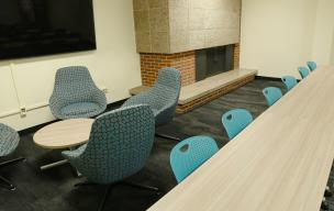 New seating furniture in a Territorial Hall classroom